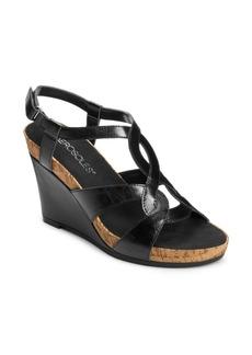 Aerosoles Fabuplush Faux-Leather Wedge Sandals