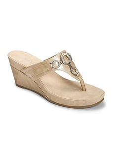 "Aerosoles® ""Flashlight"" Wedge Slide Sandals"