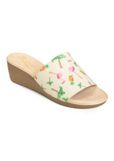 Aerosoles Florida Faux Leather Slide Sandals