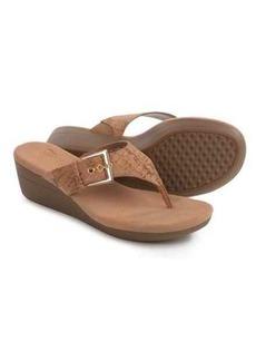 Aerosoles Flower Wedge Sandals - Vegan Leather (For Women)