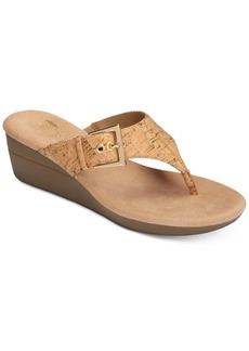 Aerosoles Flower Wedge Thong Sandals Women's Shoes