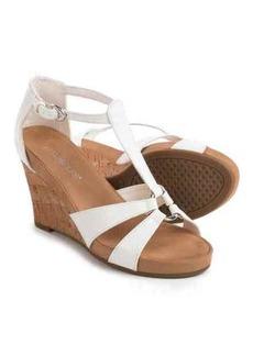 Aerosoles Plush Ahead Wedge Sandals - Vegan Leather (For Women)