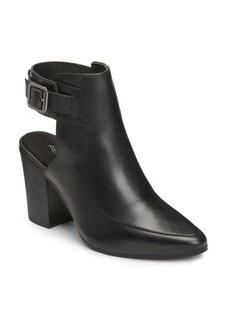 Aerosoles Square Up Leather Ankle Bootie