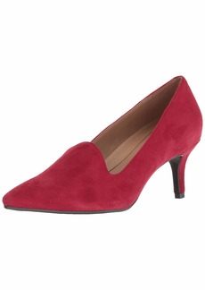 Aerosoles Women's Macrame Pump red Suede