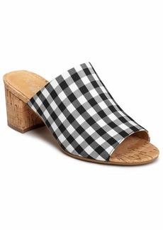 Aerosoles Women's MID Level Heeled Sandal BLK WHT Combo  M US
