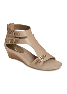 Aerosoles Yet Another Leather Wedge Sandals
