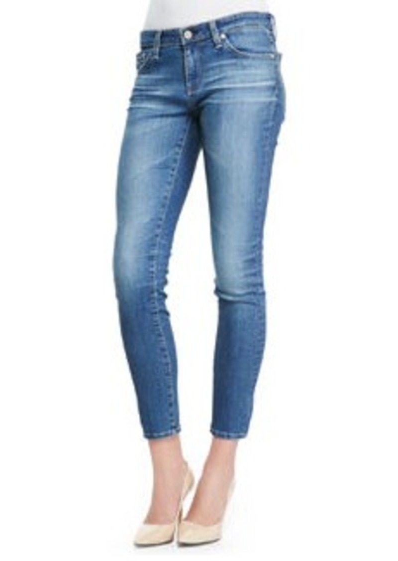 AG Adriano Goldschmied 18 Years Faded Cropped Skinny Ankle Jeans   18 Years Faded Cropped Skinny Ankle Jeans