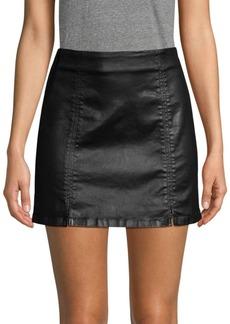 AG Adriano Goldschmied Adaline Coated Mini Skirt