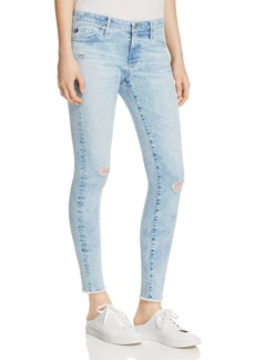 AG Acid Wash Denim Leggings in Charming