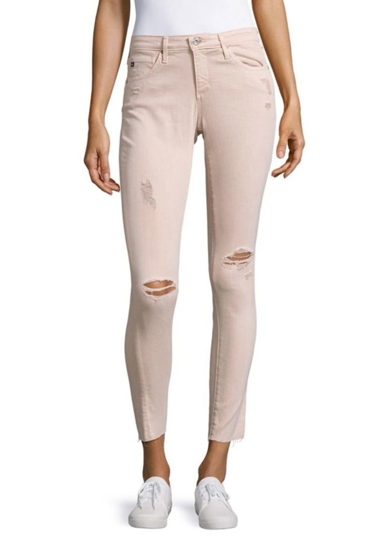 AG Adriano Goldschmied AGed Denim Distressed Legging Ankle Jeans