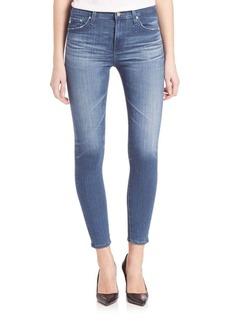 AG Adriano Goldschmied AGed Denim Farrah High Rise Skinny Crop Jeans