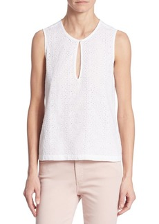 AG Adriano Goldschmied Bret Eyelet Shell Top
