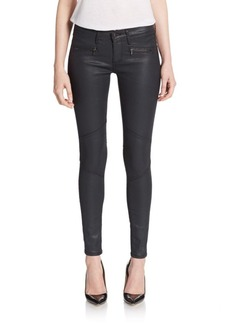 AG Adriano Goldschmied The Moto Legging Coated Skinny Jeans