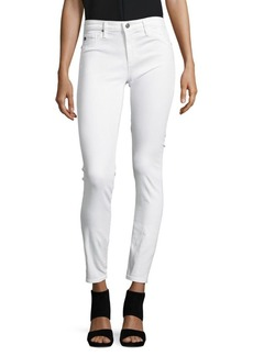 AG Adriano Goldschmied Cotton-Blend Solid Jeans