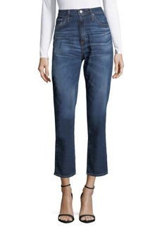 AG Adriano Goldschmied Cropped High-Rise Jeans