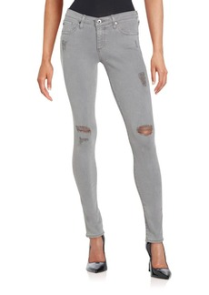 AG Adriano Goldschmied Distressed Ankle Jeans