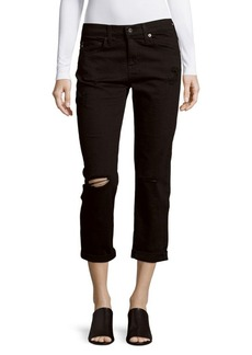 AG Adriano Goldschmied Distressed Cropped Jeans