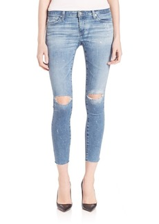 Distressed Legging Ankle Jeans