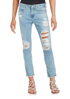 AG Adriano Goldschmied Distressed Tapered Jeans