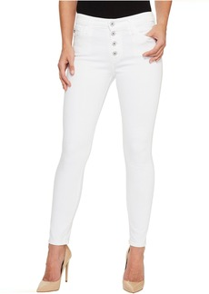 AG Adriano Goldschmied Farrah Skinny Ankle E Button Up in White