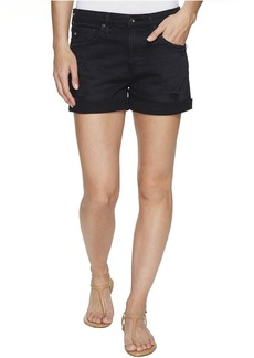 Hailey Boyfriend Shorts in Sulfur Black Terrain