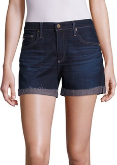 AG Adriano Goldschmied Hailey Medium Wash Roll-Up Shorts