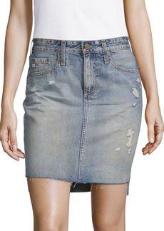 AG Adriano Goldschmied Hi-Lo Denim Pencil Skirt