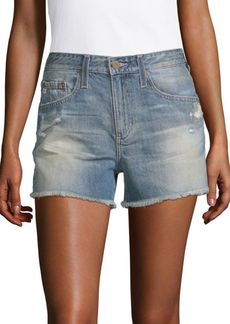 AG Adriano Goldschmied High-Rise Denim Shorts