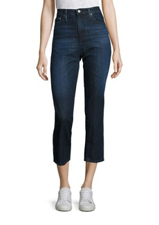 AG Adriano Goldschmied Isabelle High Rise Straight Cropped Jeans