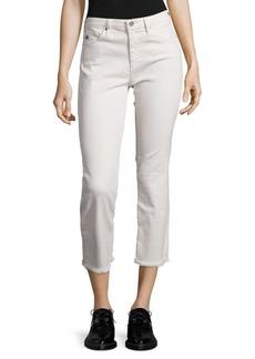 Jodi High-Rise Raw Hem Cropped Flared Jeans