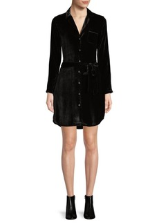 AG Adriano Goldschmied Judson Velvet Shirtdress