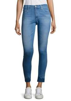 AG Adriano Goldschmied Farrah Raw-Hem High-Rise Ankle Skinny Jeans
