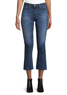 Led High-Rise Cropped Jeans
