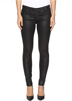 AG Adriano Goldschmied Leggings Ankle in Crackle Black