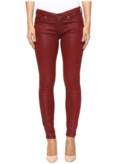 AG Adriano Goldschmied Leggings Ankle in Crackle Ruby Rouge
