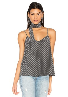 AG Adriano Goldschmied Lisette Tank with Scarf in Gray. - size L (also in M,S,XS)
