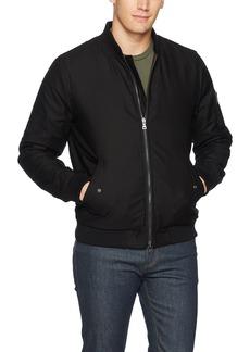 AG Adriano Goldschmied Men's Arlo Bomber Jacket True Black camo XL