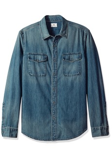 AG Adriano Goldschmied Men's Benning Denim Long Sleeve Shirt  M