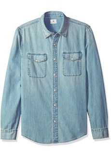 AG Adriano Goldschmied Men's Benning Long Sleeve Cove Denim Shirt  XXL