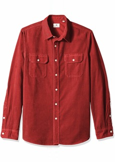 AG Adriano Goldschmied Men's Benning Utility Shirt Tannic red