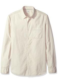 AG Adriano Goldschmied Men's Bristol Long Sleeve Slub Cotton Button Down Oxford  S