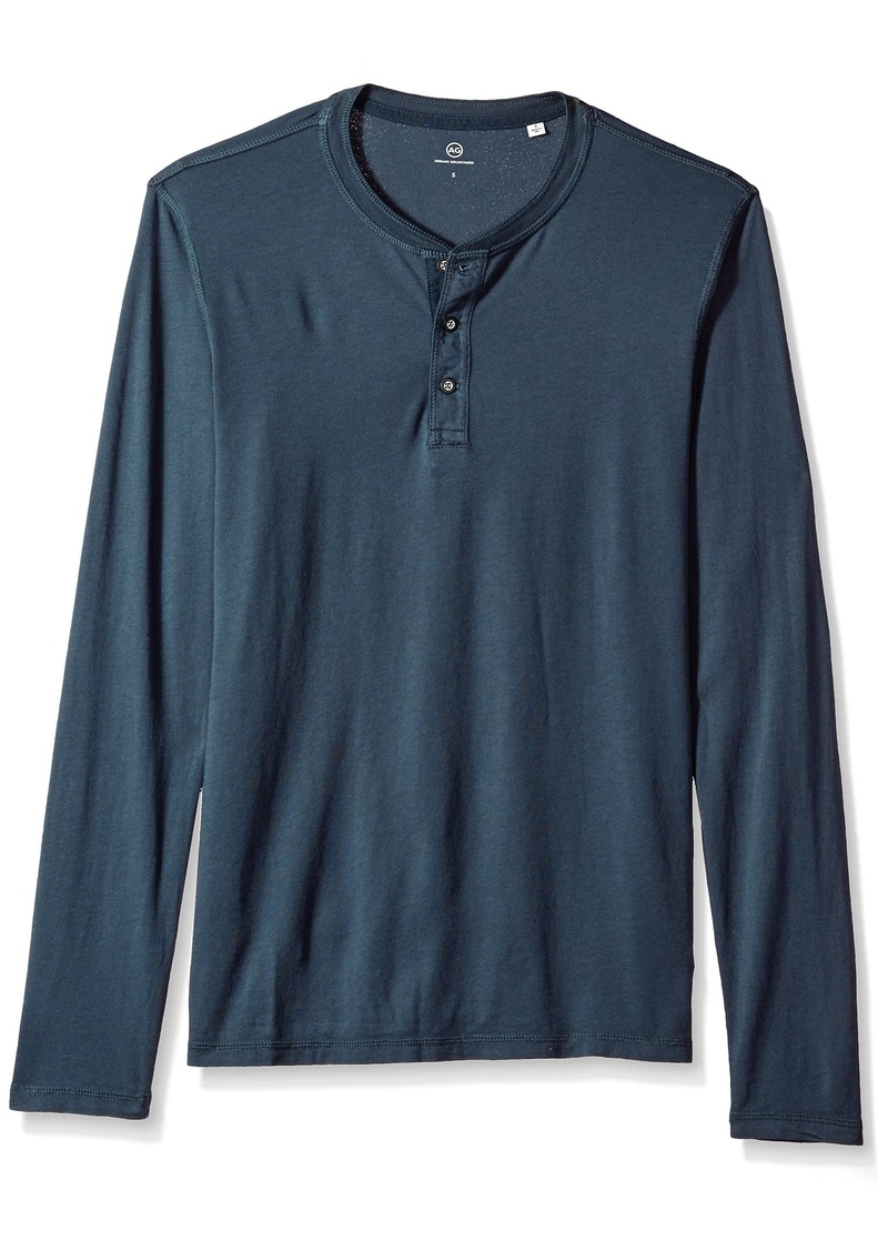 AG Adriano Goldschmied Men's Clyde Long Sleeve Henley  XL