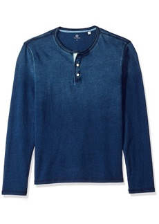 AG Adriano Goldschmied Men's Clyde Long Sleeve Indigo Jersey Henley  M