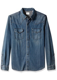 AG Adriano Goldschmied Men's Ethan Long Sleeve Denim Shirt  S