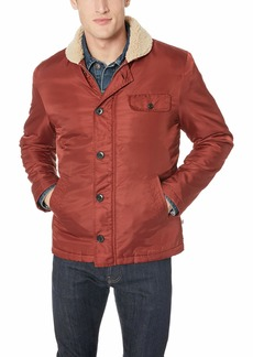 AG Adriano Goldschmied Men's Holt Shearling Lined Jacket Tannic red