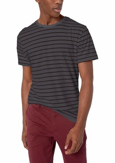 AG Adriano Goldschmied Men's Julian Stripe Crew