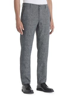 AG Adriano Goldschmied Men's Marshall Herringbone Straight-Leg Pants