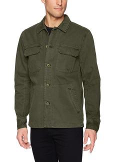 AG Adriano Goldschmied Men's Marx Cotton Herringbone Long Sleeve Field Jacket  L