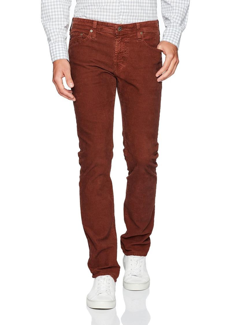 AG Adriano Goldschmied Men's Matchbox Slim Straight Leg Corduroy Pant red Maize 36W X 34L