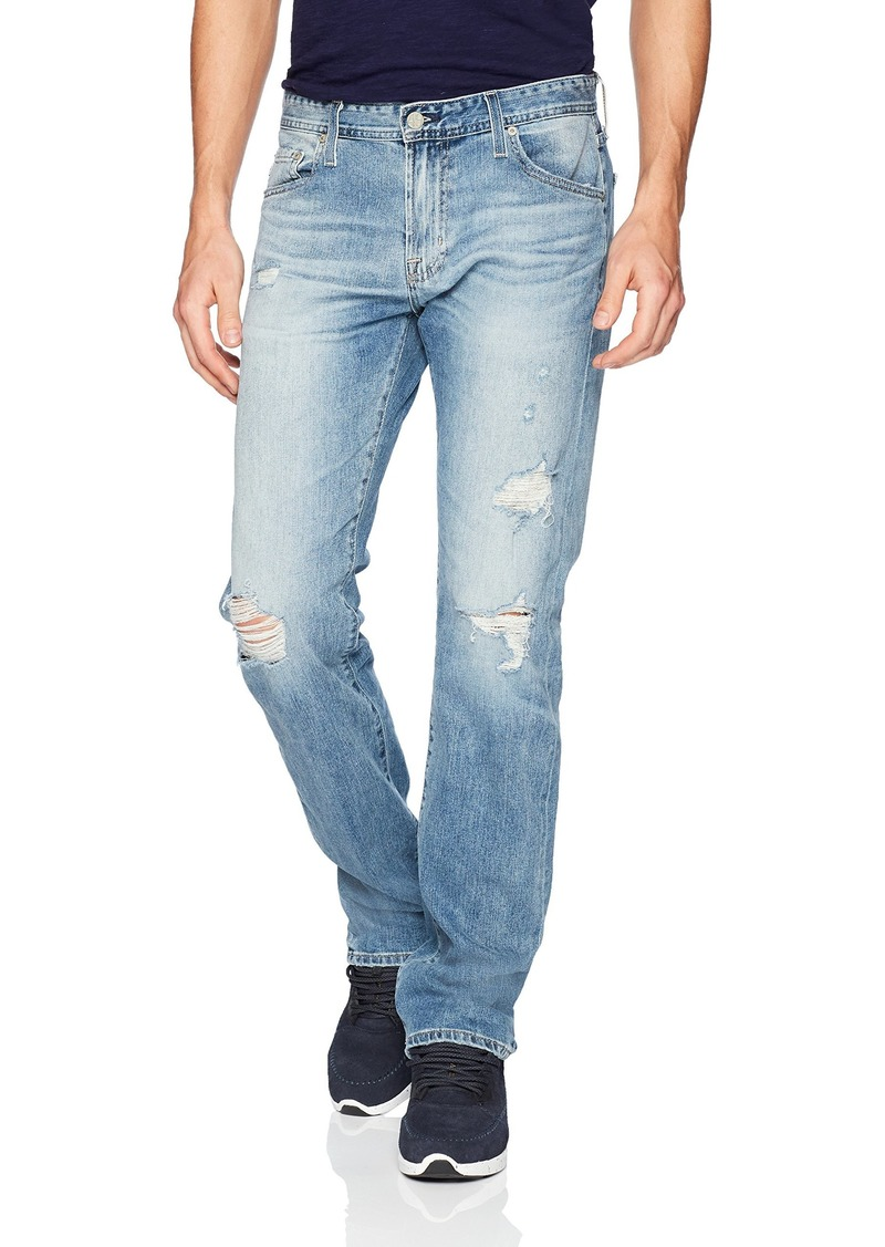 AG Adriano Goldschmied Men's Matchbox Slim Straight Leg Led Denim Years Blue isle